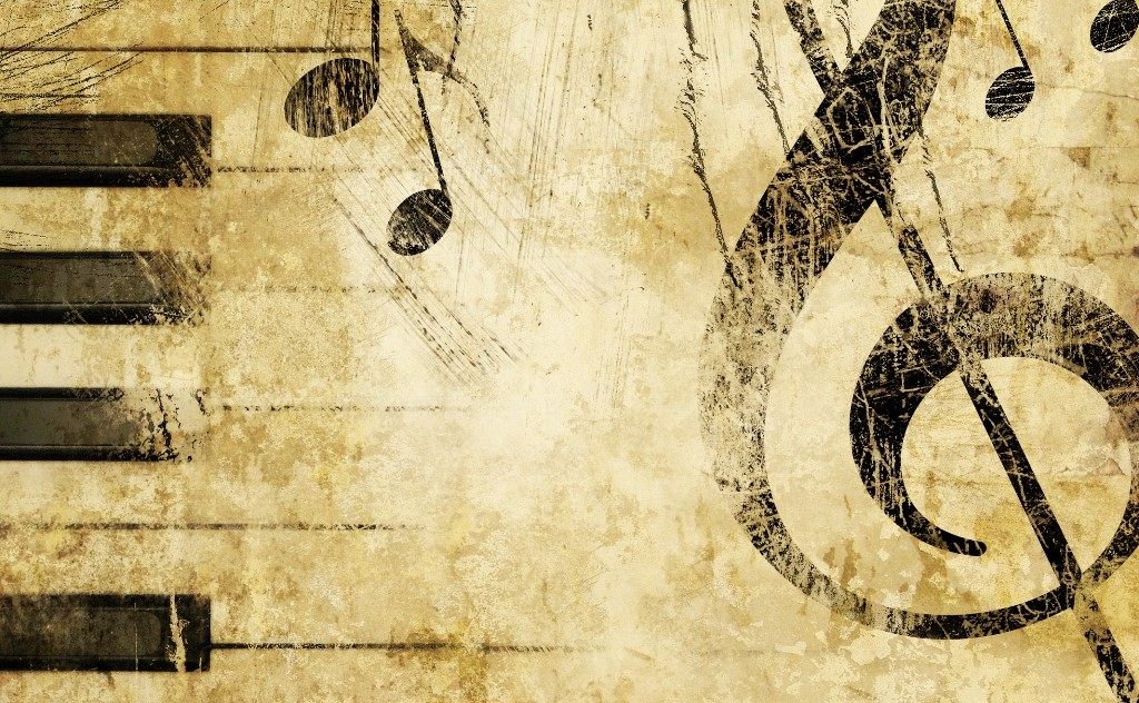 old music score background wallpaper 2048x1536